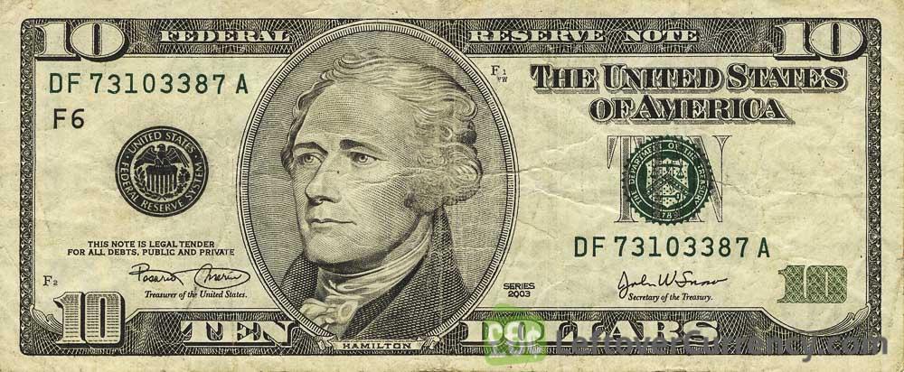 10 dollar banknote