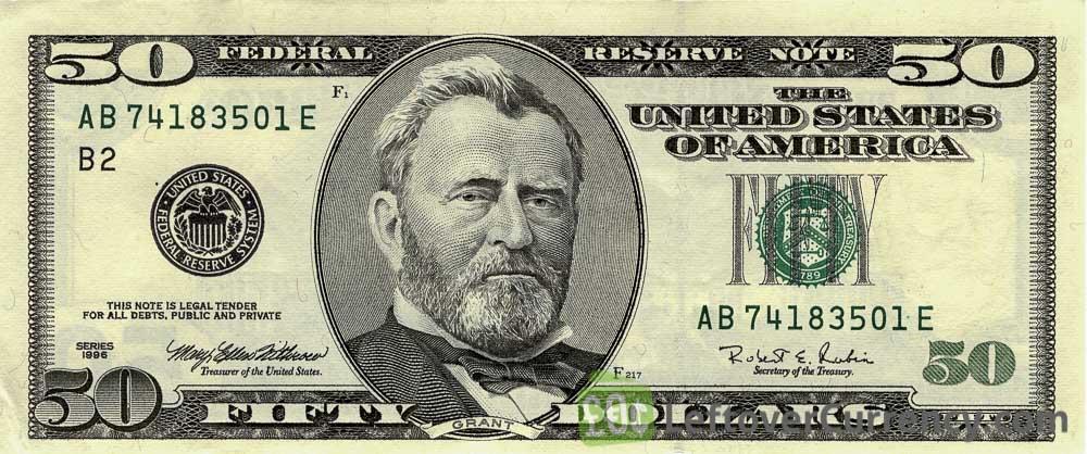 50 dollar banknote